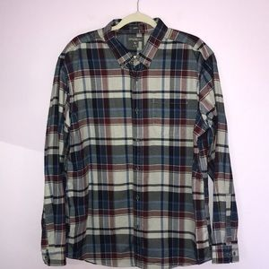 Eddie Bauer Blue and Red Plaid Flannel